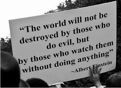 Einstein quote good vs evil